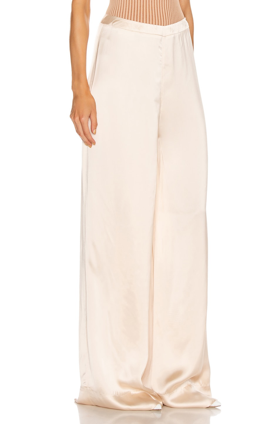 Image 2 of Jil Sander High Waisted Palazzo Pant in Rose