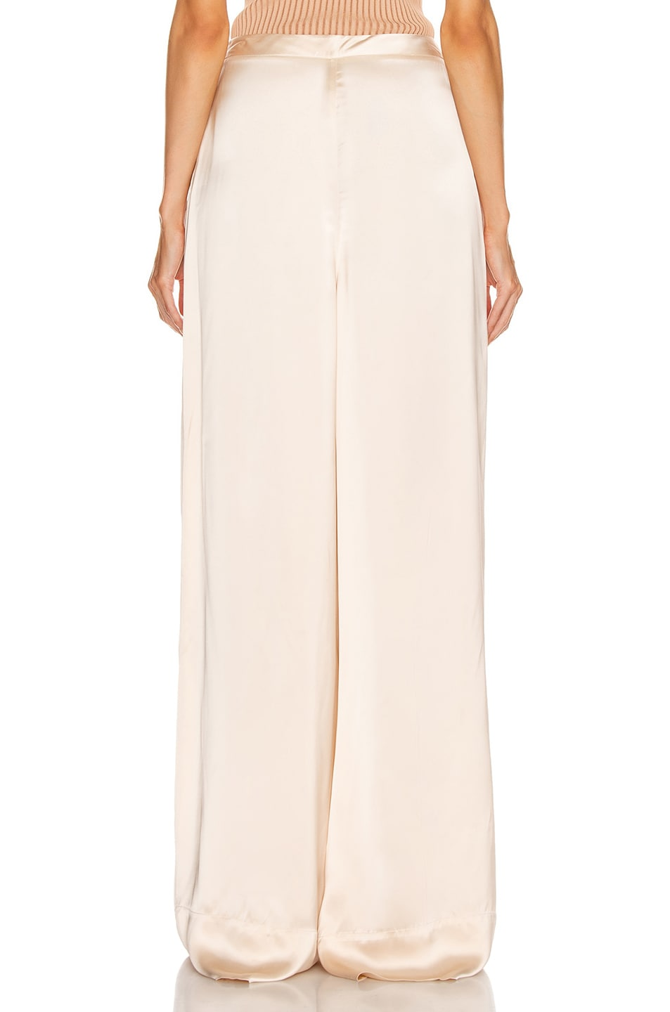 Image 3 of Jil Sander High Waisted Palazzo Pant in Rose