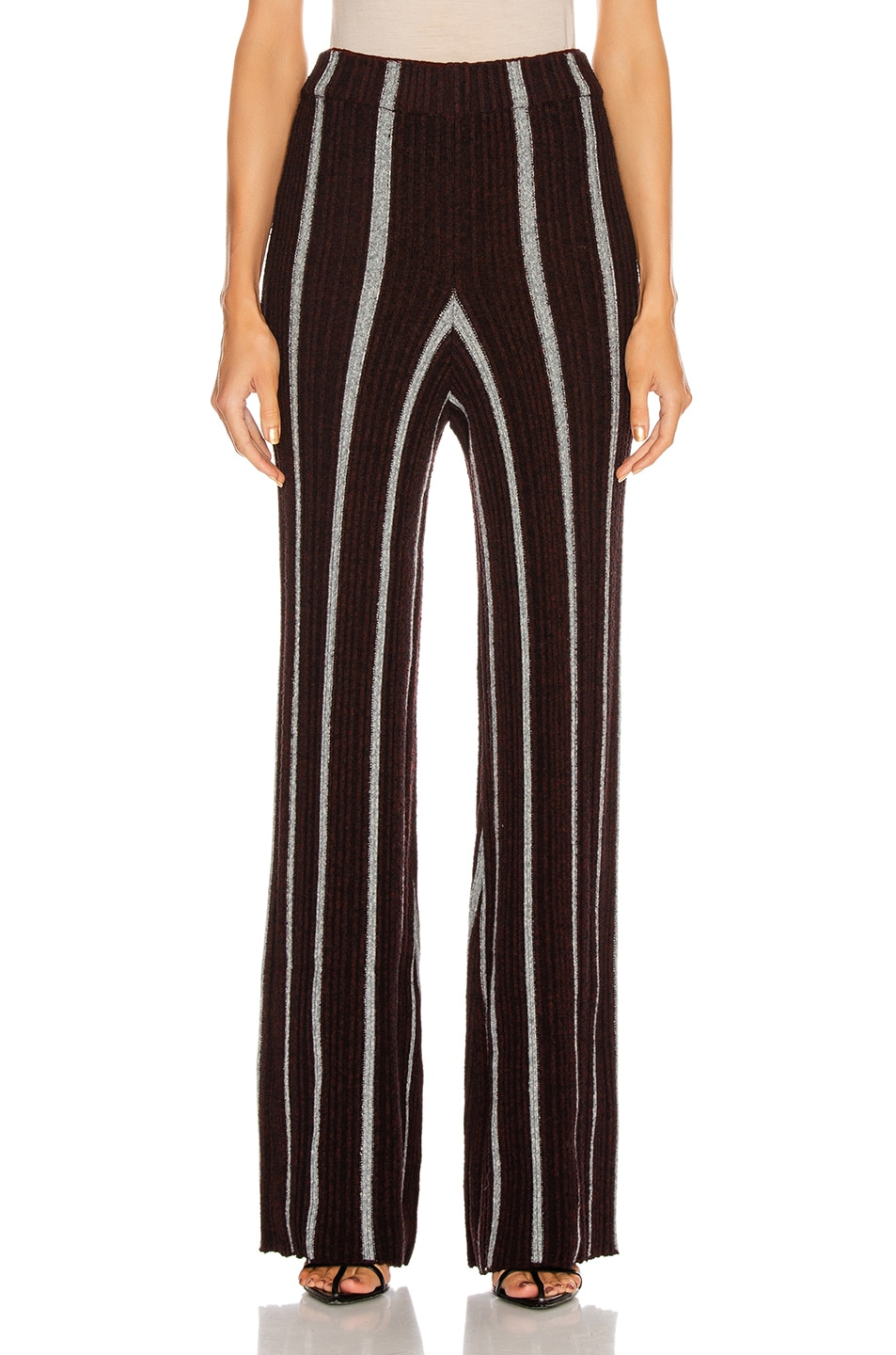 Image 1 of Jil Sander Long Wide Leg Pant in Stripe