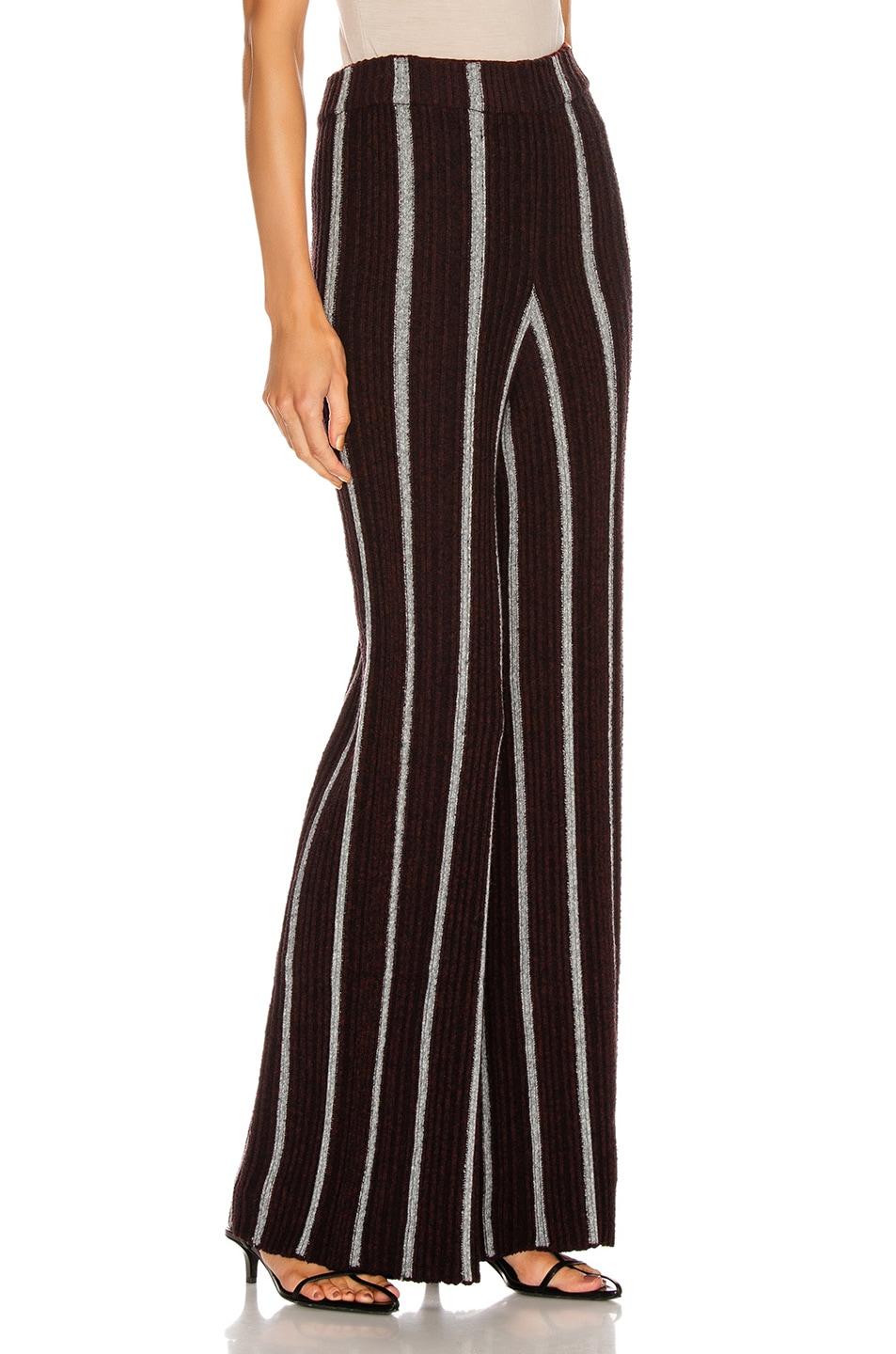 Image 2 of Jil Sander Long Wide Leg Pant in Stripe