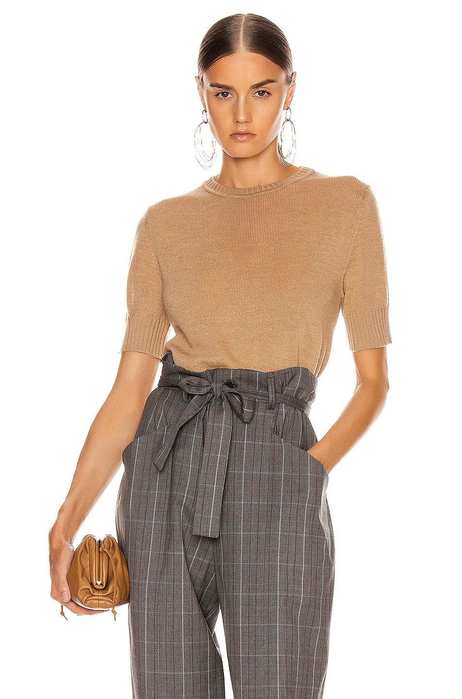 Image 1 of Jil Sander Short Sleeve Sweater Top in Tan