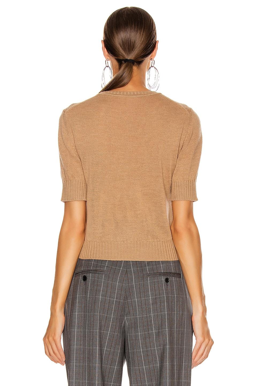 Image 3 of Jil Sander Short Sleeve Sweater Top in Tan