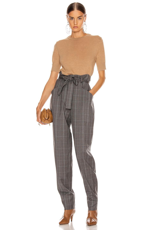 Image 4 of Jil Sander Short Sleeve Sweater Top in Tan