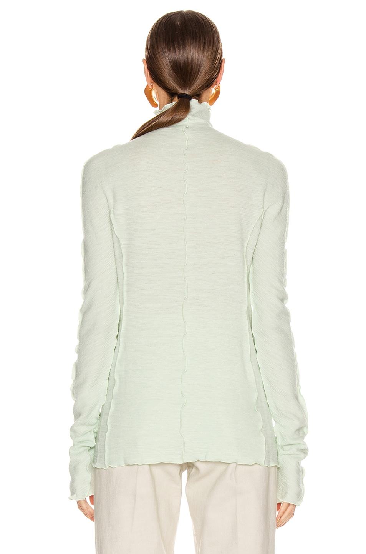 Image 4 of Jil Sander High Neck Long Sleeve Top in Pale Blue