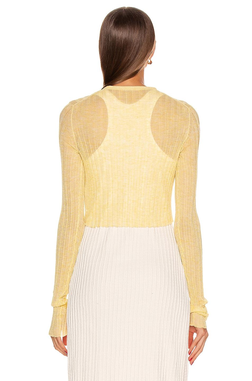 Image 4 of Jil Sander Cardigan Top in Light Pastel Yellow