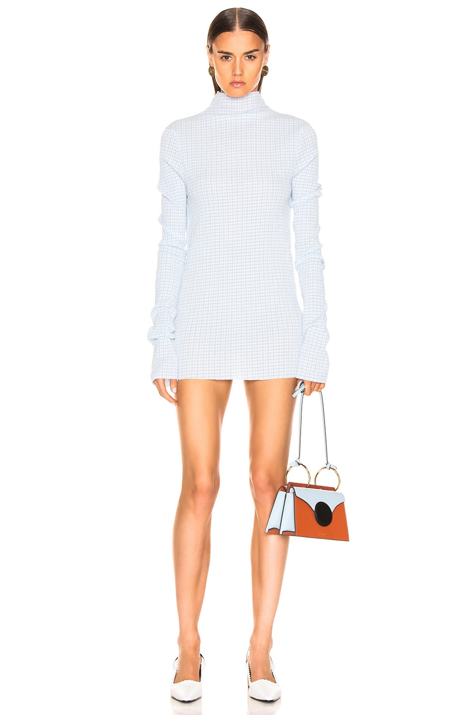 Image 1 of Jil Sander Long Sleeve Tunic in Open Blue