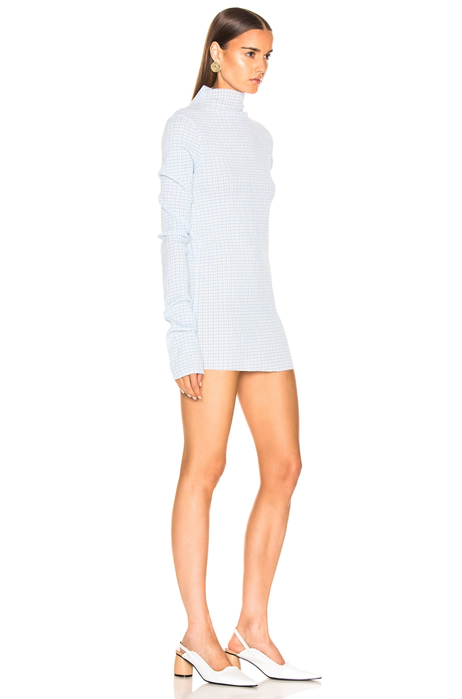 Image 3 of Jil Sander Long Sleeve Tunic in Open Blue