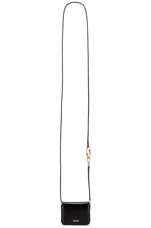 Image 6 of Jil Sander Hook Zip Wallet Crossbody Bag in Black