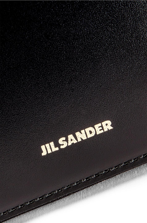 Image 7 of Jil Sander Hook Zip Wallet Crossbody Bag in Black