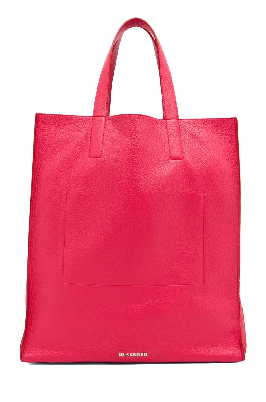 Image 1 of Jil Sander Paper Bag Tote in Lipstick