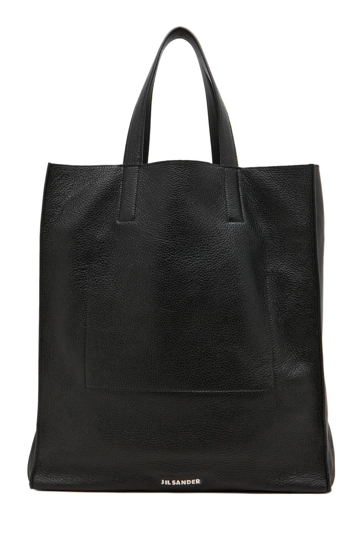 Image 1 of Jil Sander Paper Bag Tote in Black