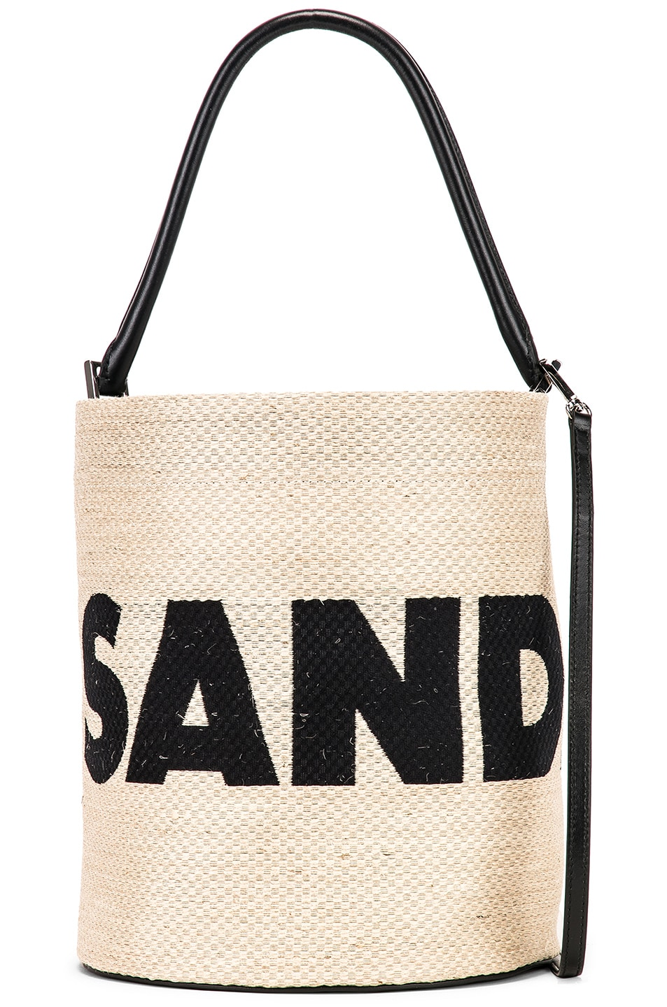 Image 1 of Jil Sander Logo Drawstring Bag in Natural