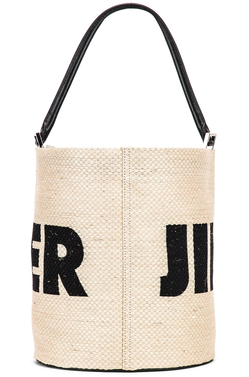 Image 3 of Jil Sander Logo Drawstring Bag in Natural