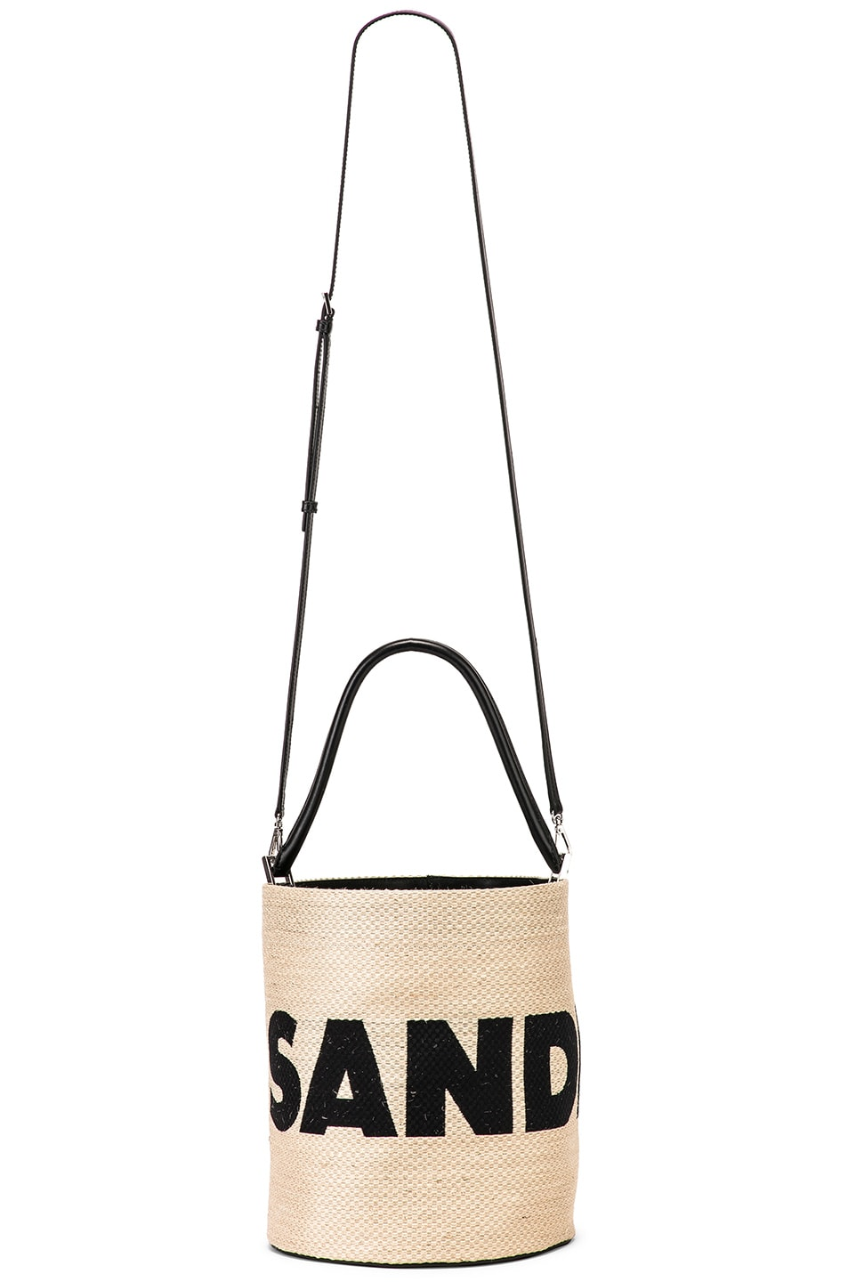Image 6 of Jil Sander Logo Drawstring Bag in Natural