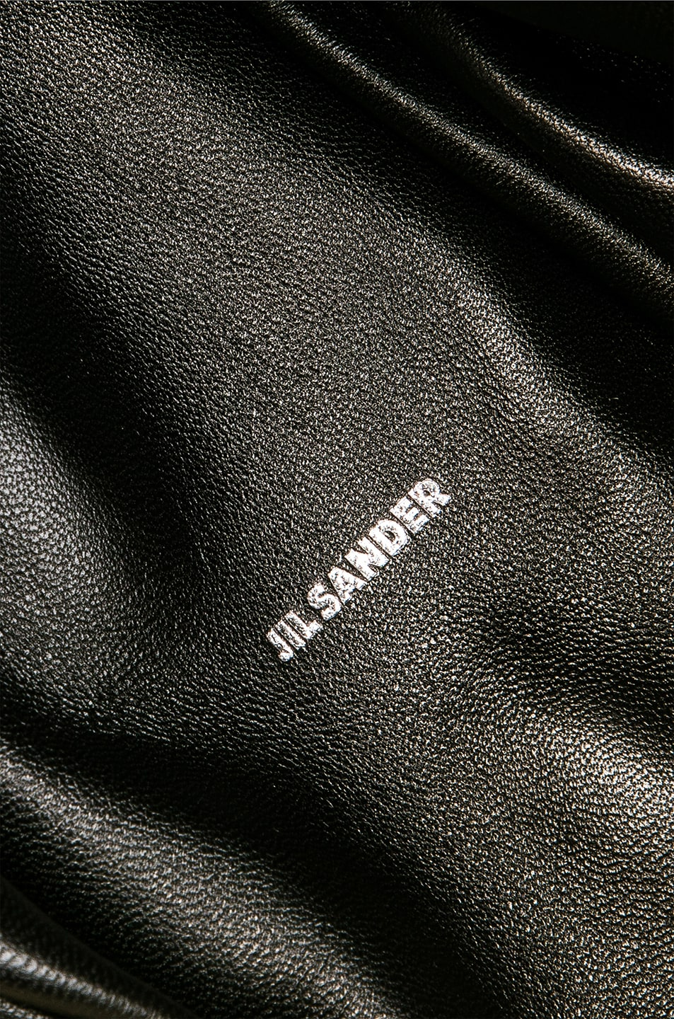 Image 7 of Jil Sander Logo Drawstring Bag in Natural