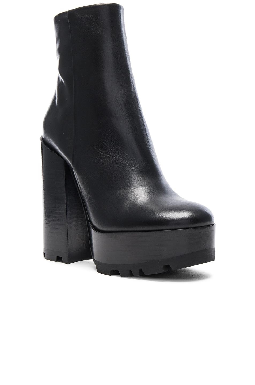 Image 2 of Jil Sander Platform Leather Boots in Black