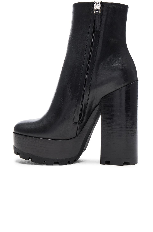 Image 5 of Jil Sander Platform Leather Boots in Black