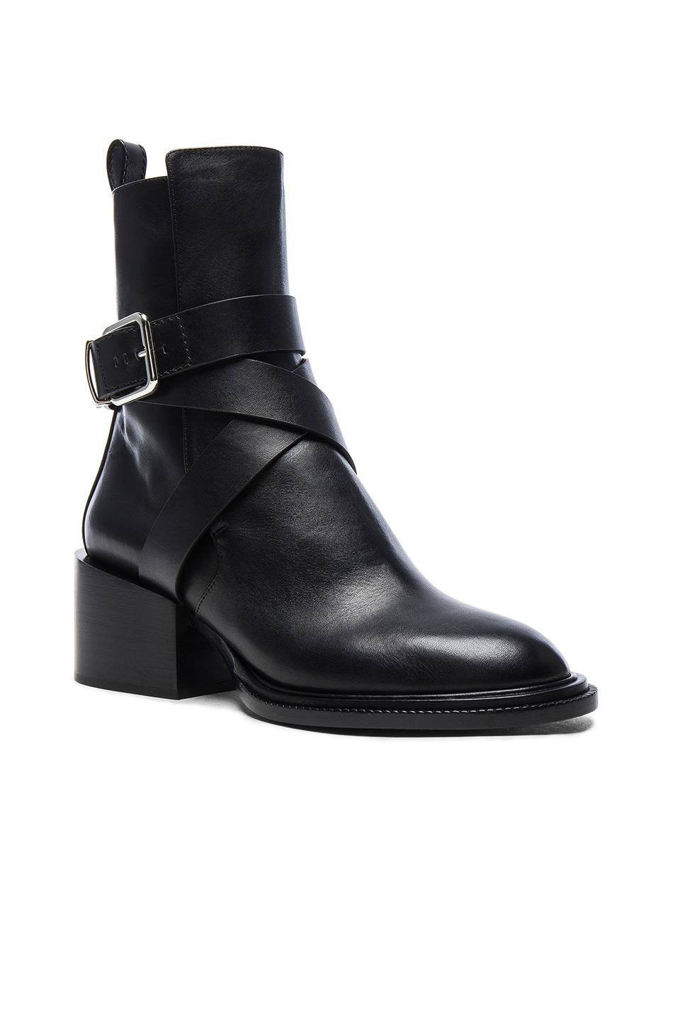 Image 2 of Jil Sander Leather Boots in Black