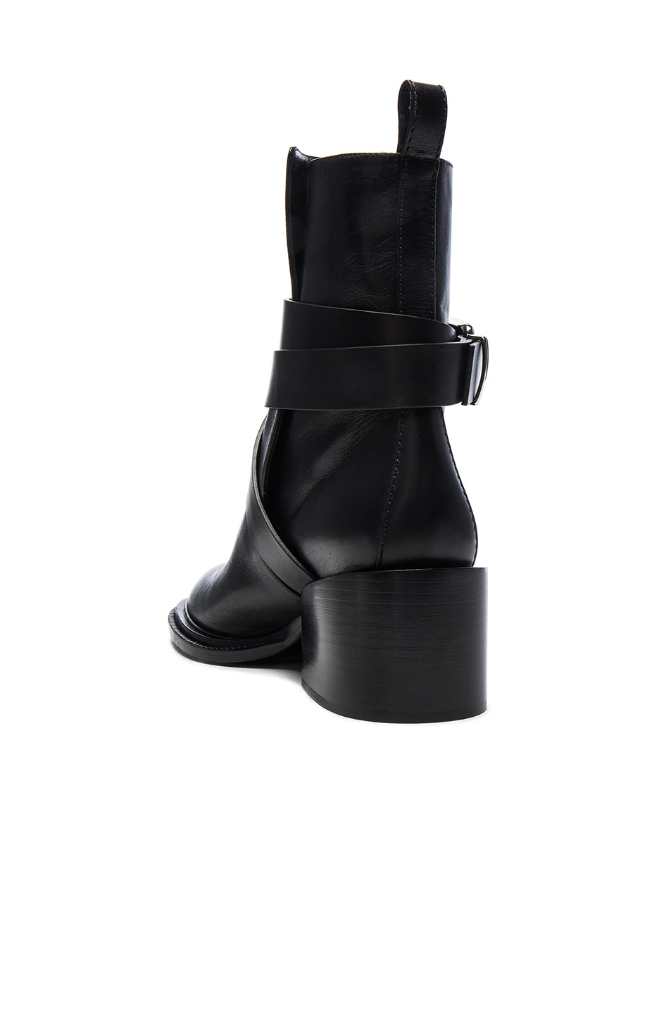 Image 3 of Jil Sander Leather Boots in Black