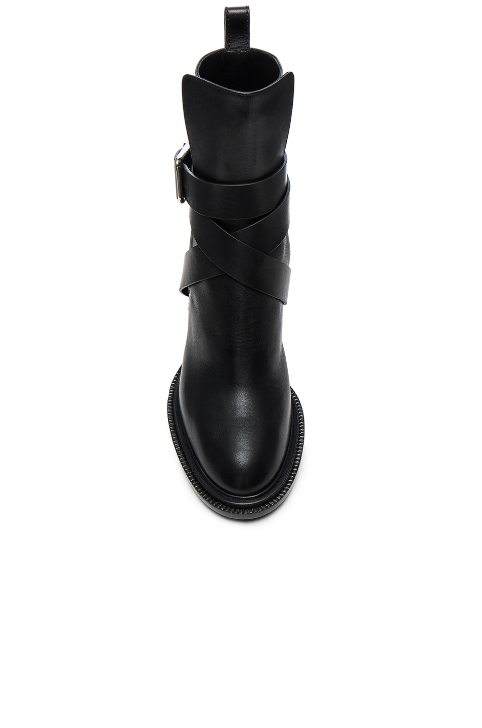 Image 4 of Jil Sander Leather Boots in Black