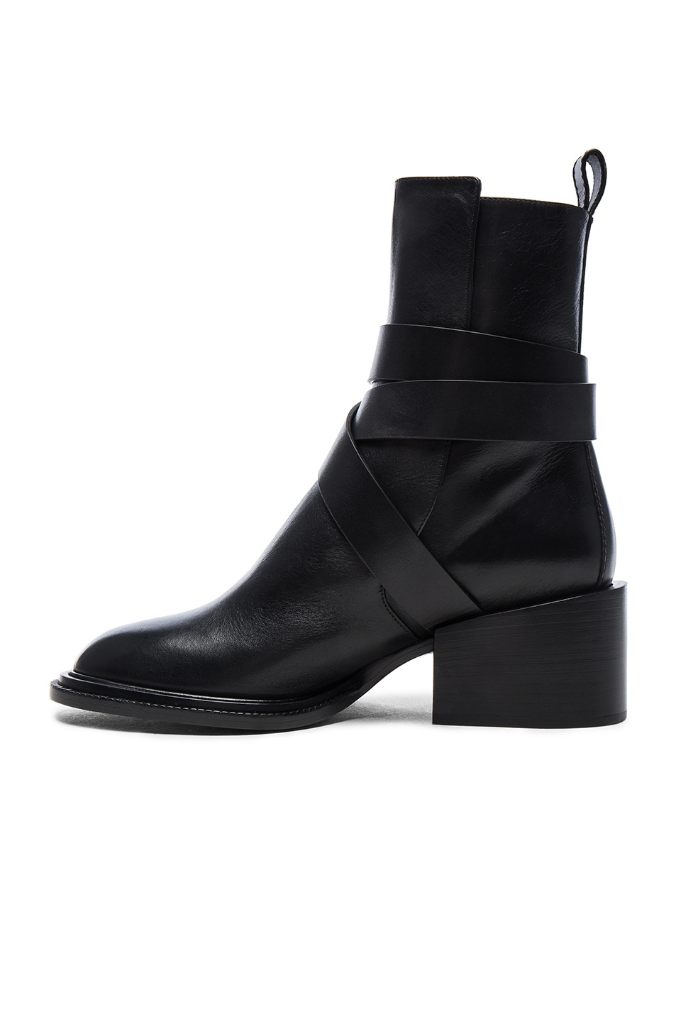 Image 5 of Jil Sander Leather Boots in Black