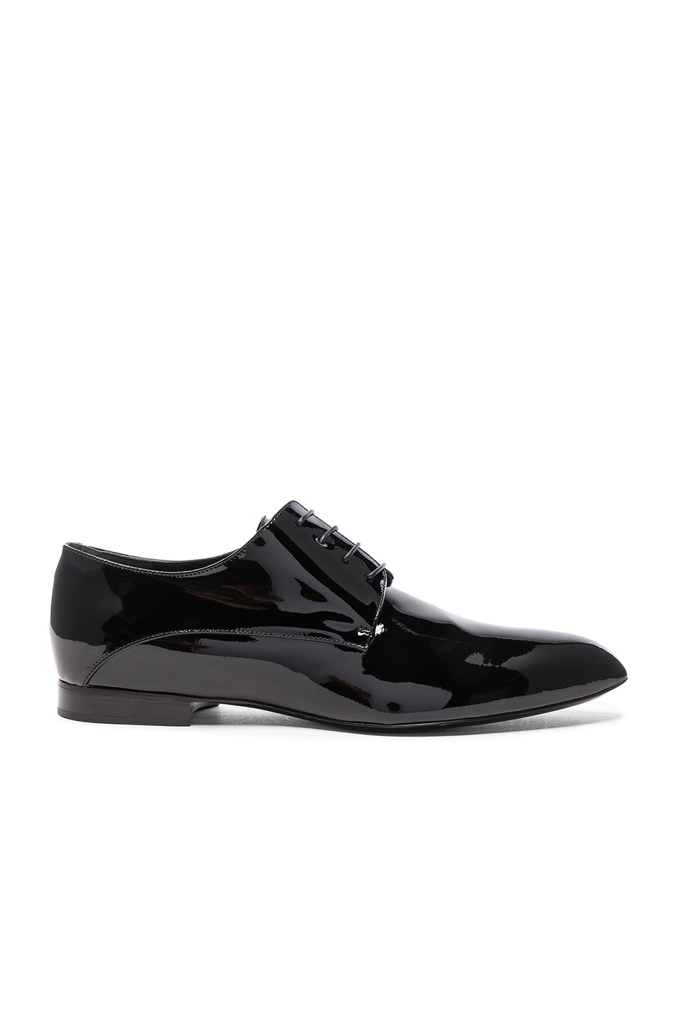 Image 1 of Jil Sander Patent Leather Oxfords in Nero