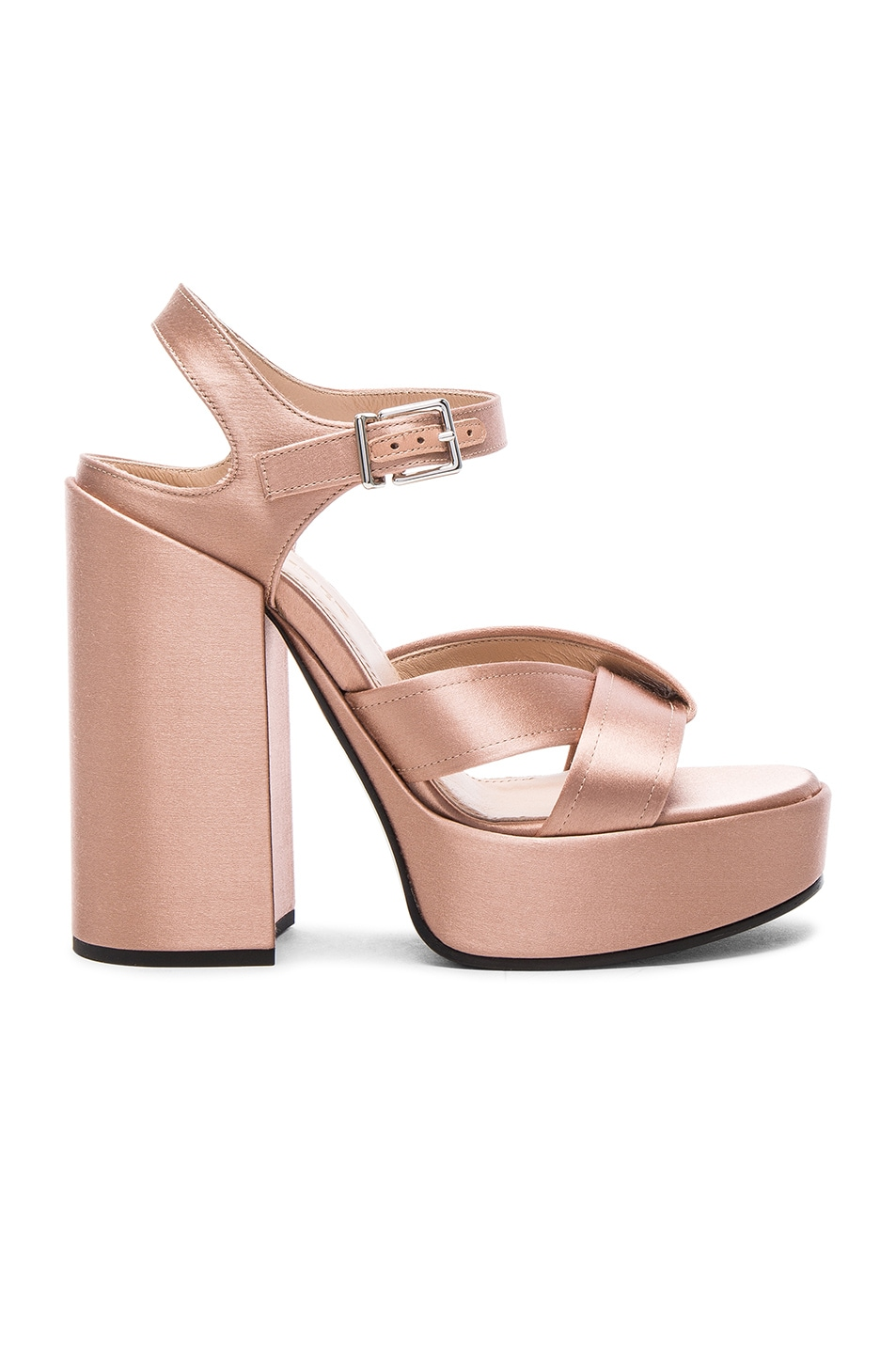 Image 1 of Jil Sander Satin Heels in Rosa