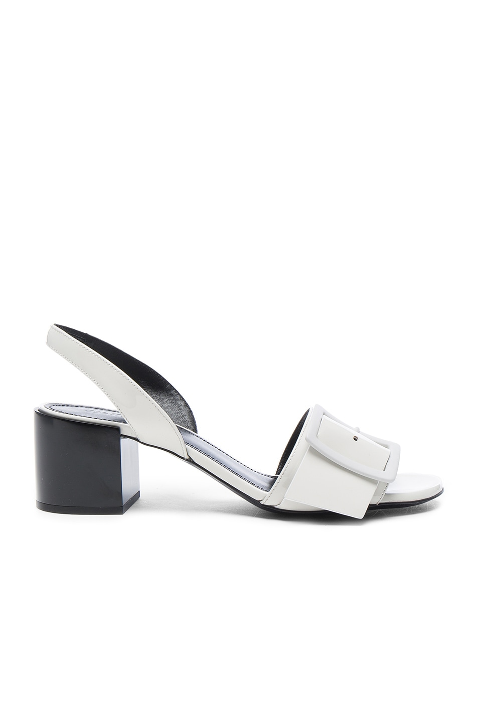 Image 1 of Jil Sander Patent Leather Heels in Riso & Nero