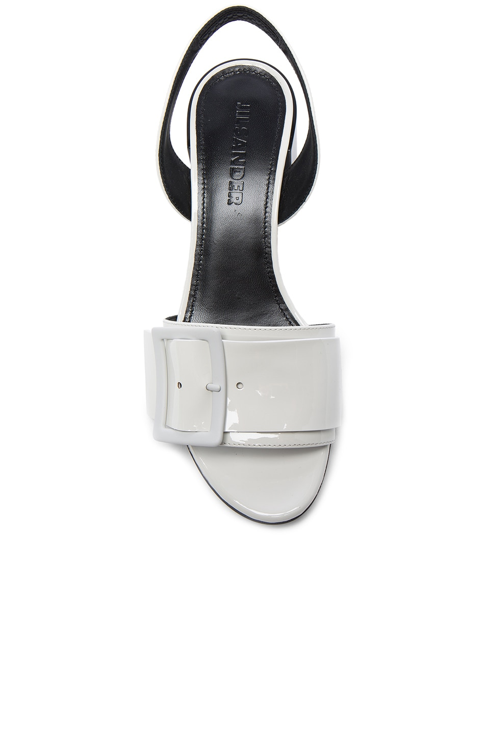 Image 4 of Jil Sander Patent Leather Heels in Riso & Nero
