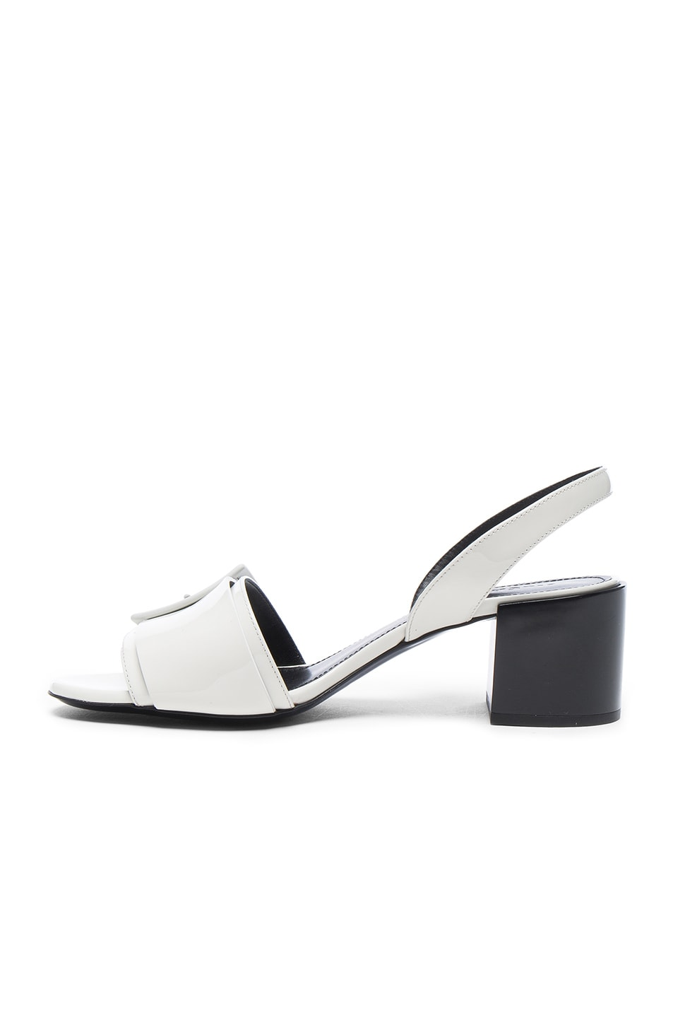 Image 5 of Jil Sander Patent Leather Heels in Riso & Nero