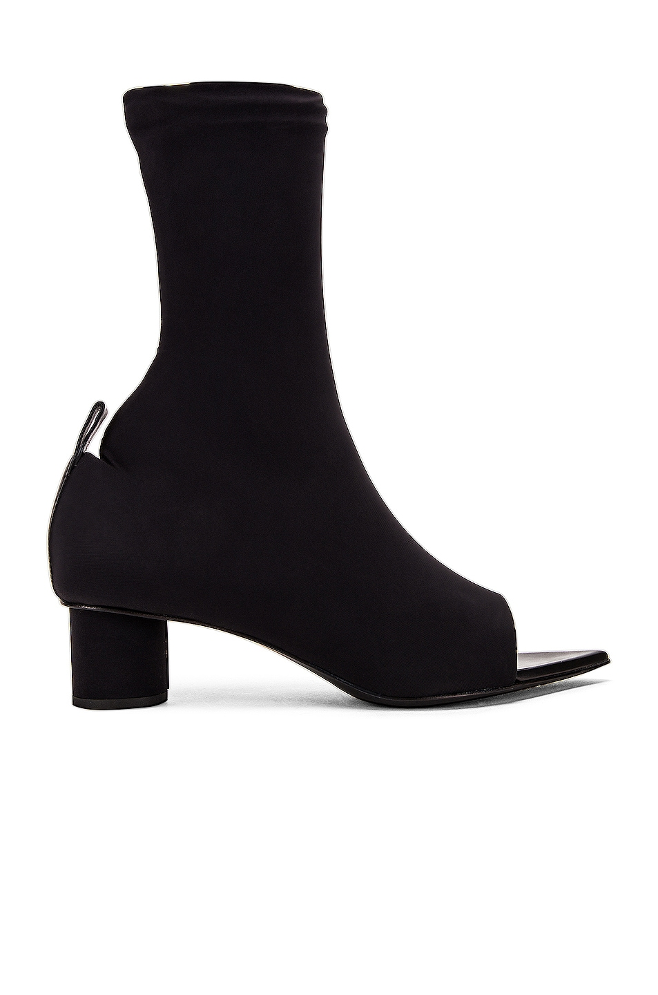 Image 1 of Jil Sander Open Toe Bootie in Black