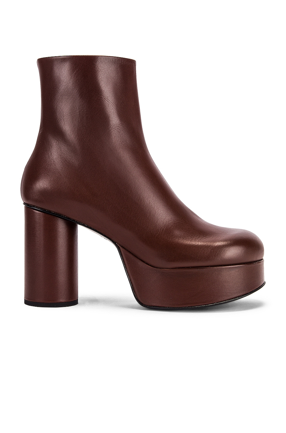 Image 1 of Jil Sander Chunky Ankle Boots in Dark Brown