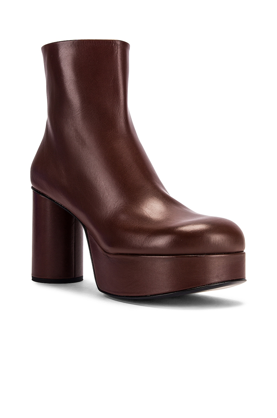 Image 2 of Jil Sander Chunky Ankle Boots in Dark Brown