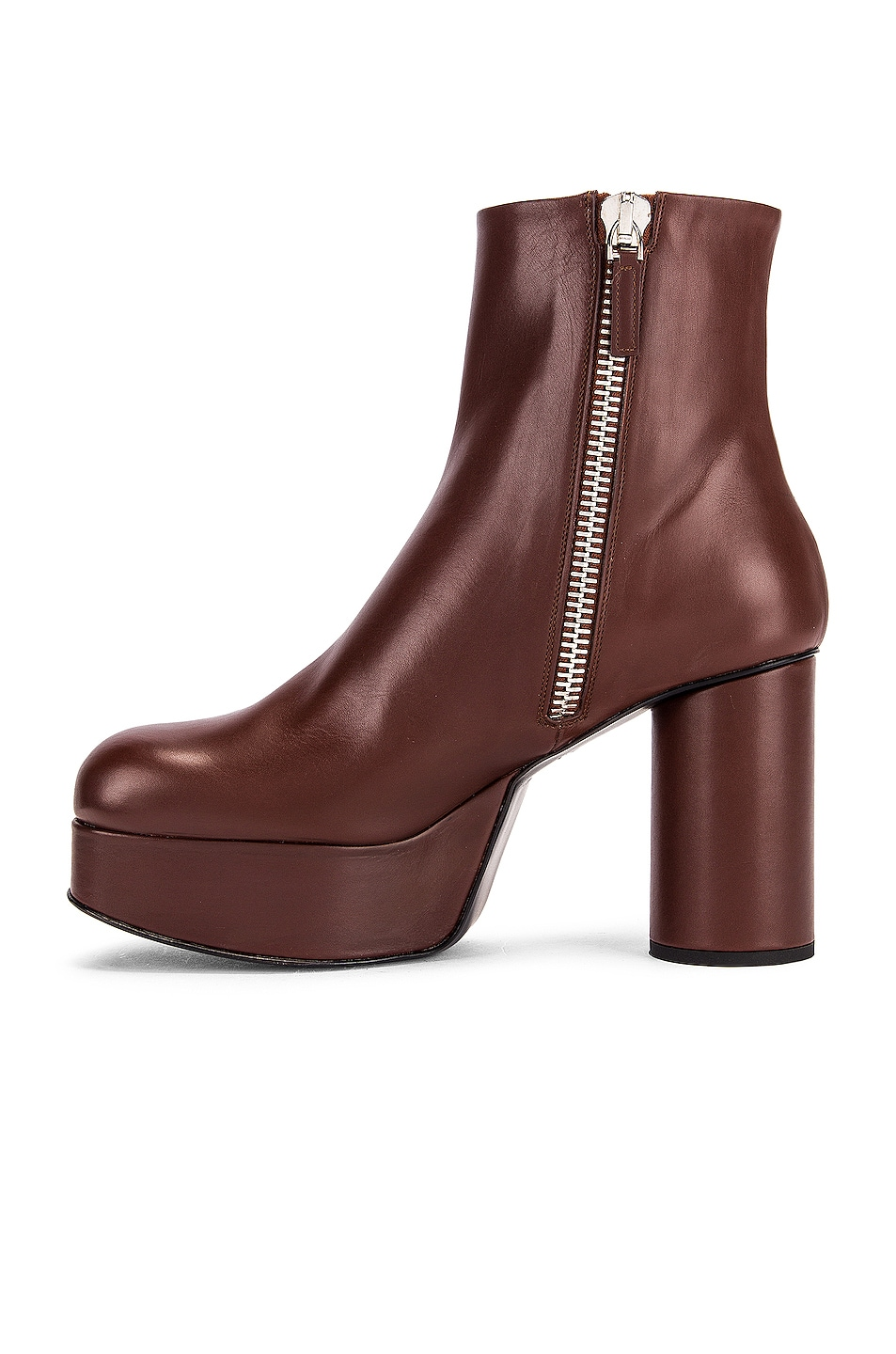 Image 5 of Jil Sander Chunky Ankle Boots in Dark Brown