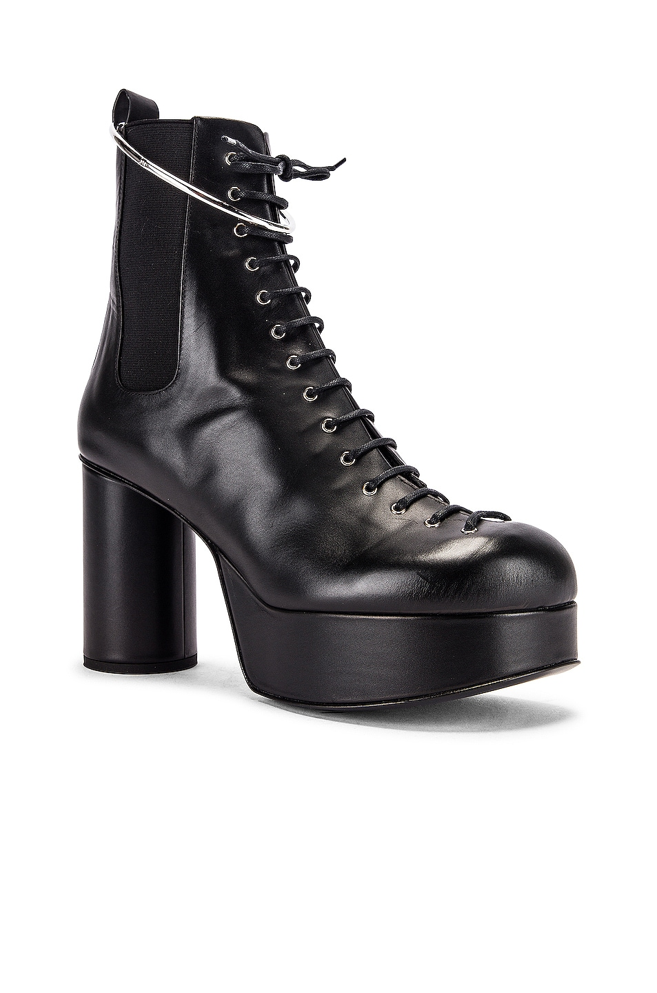 Image 2 of Jil Sander Lace Up Ankle Boots in Black