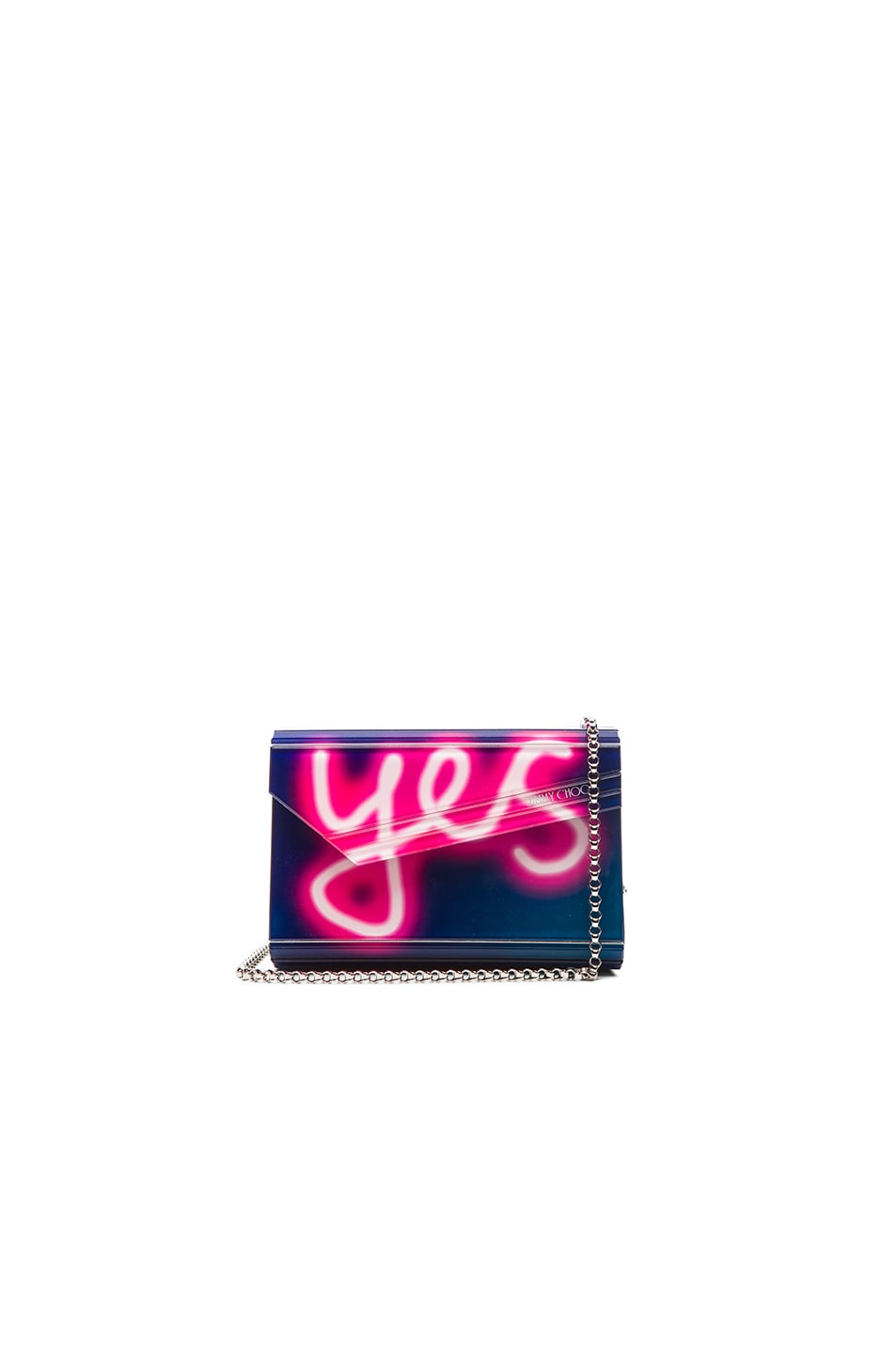 Image 1 of Jimmy Choo Neon Candy Clutch in Navy & Raspberry
