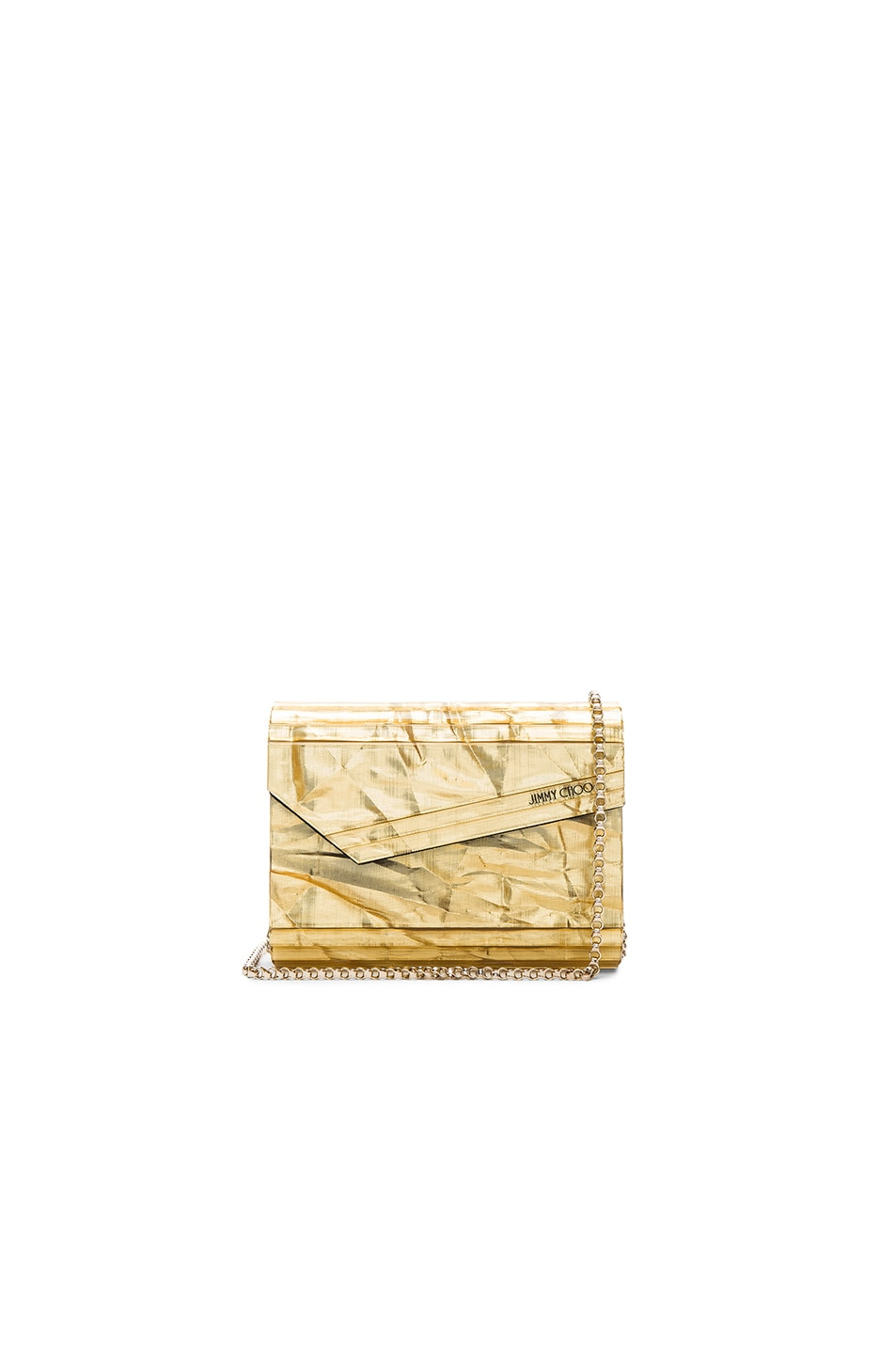 Image 1 of Jimmy Choo Candy Clutch in Gold