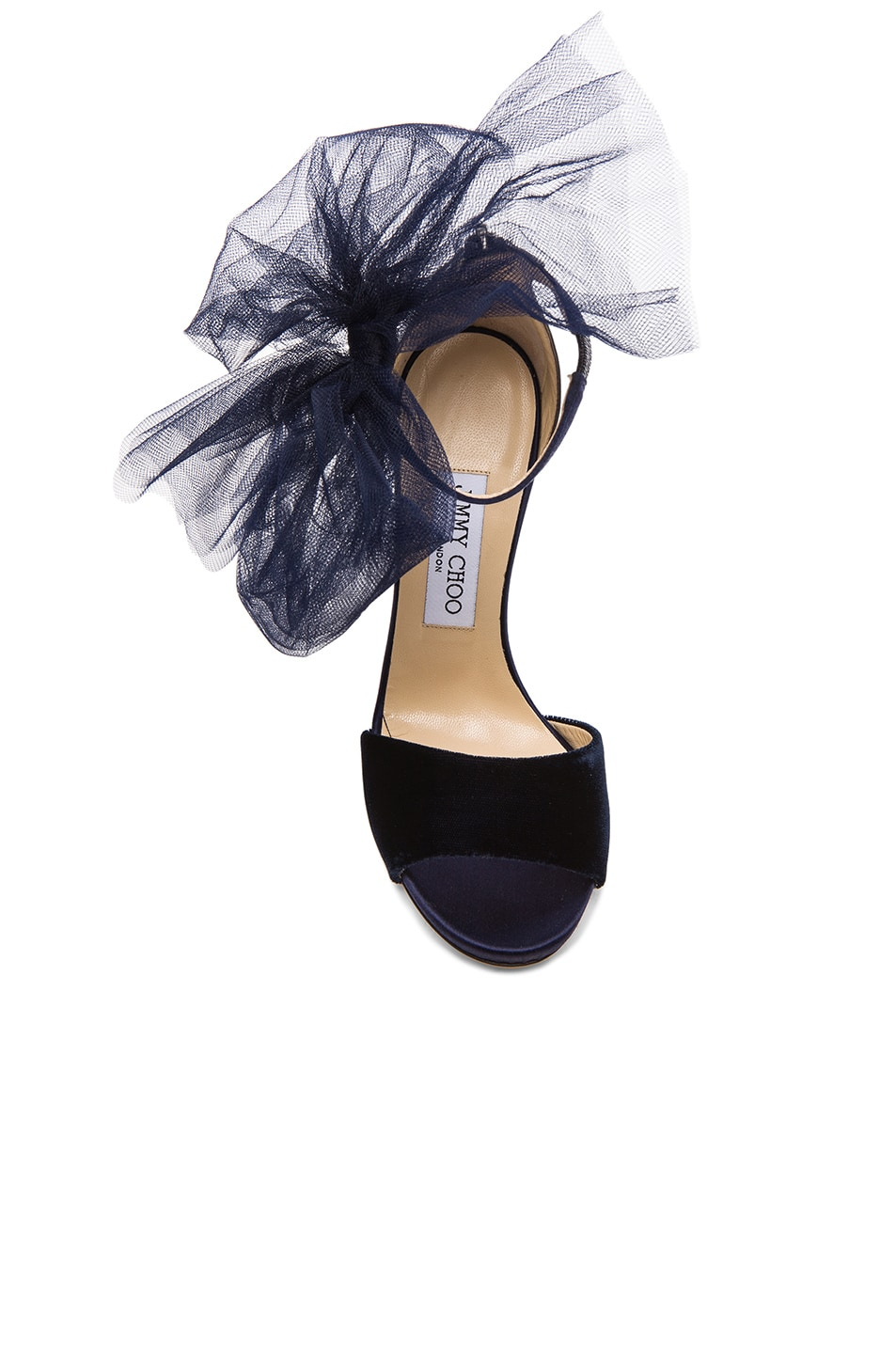 Image 4 of Jimmy Choo Lilyth Satin and Velvet Heels in Anthracite & Navy