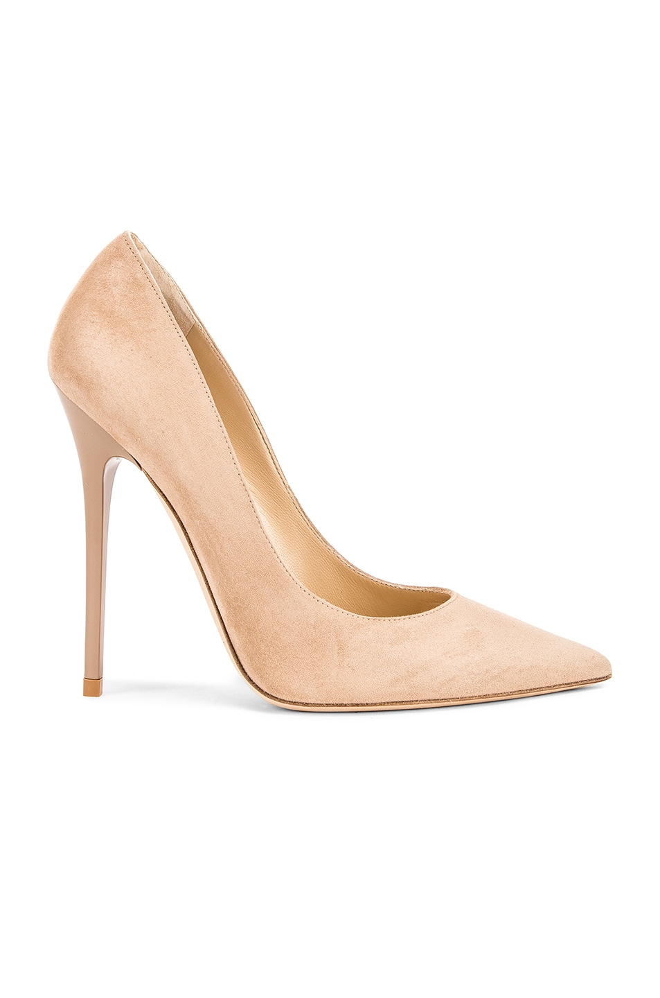 Image 1 of Jimmy Choo Anouk 120 Suede Pumps in Nude