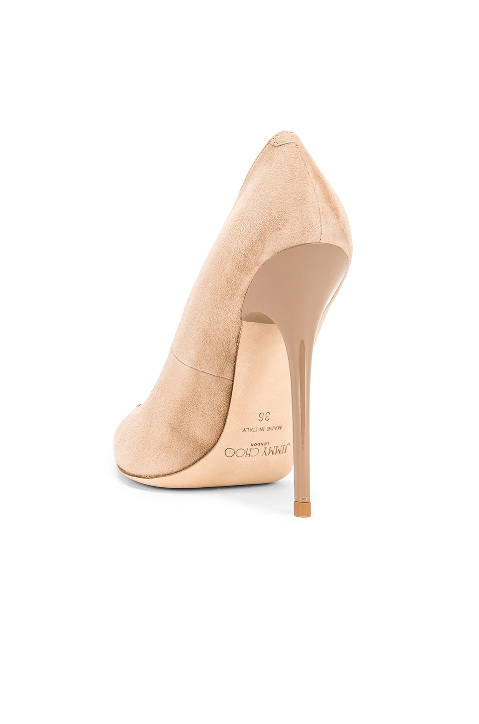Image 3 of Jimmy Choo Anouk 120 Suede Pumps in Nude