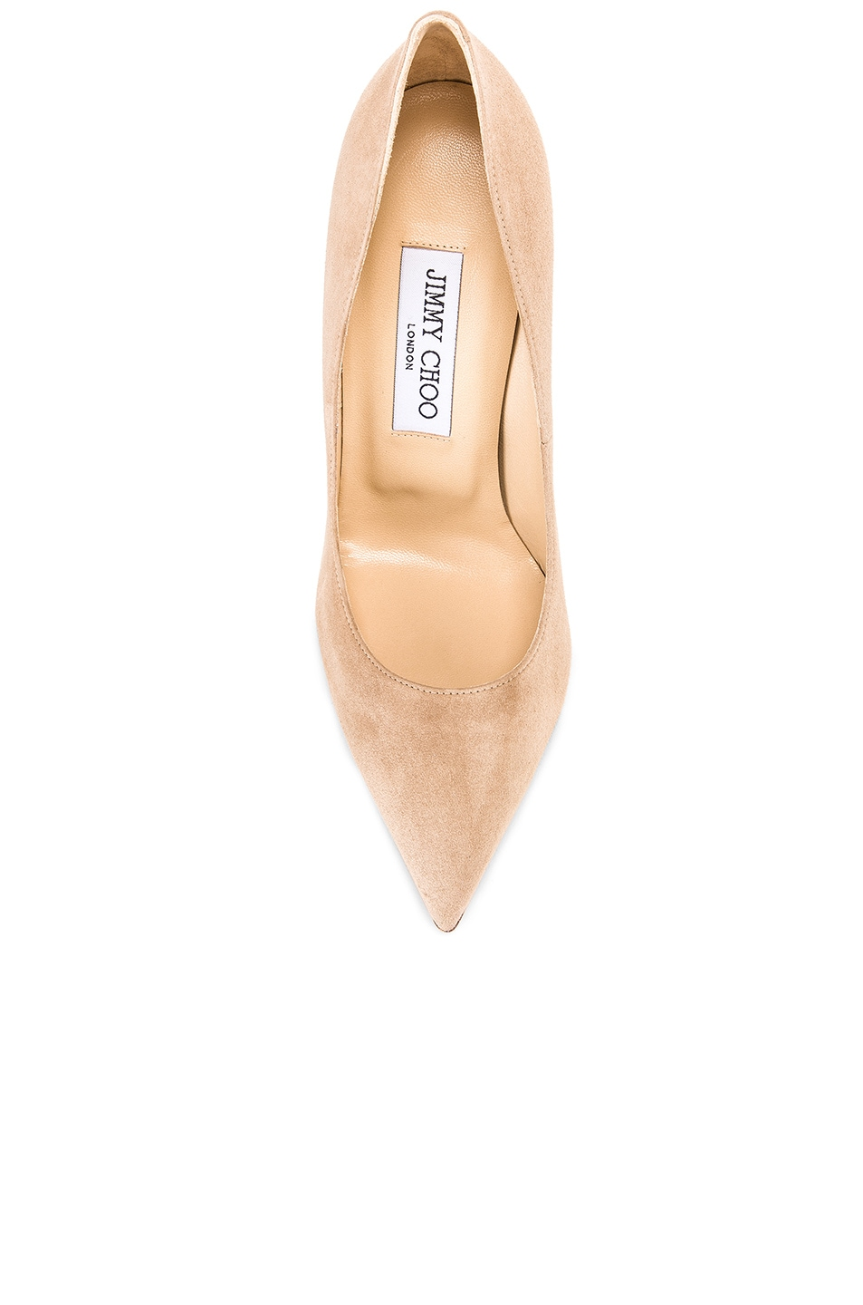 Image 4 of Jimmy Choo Anouk 120 Suede Pumps in Nude