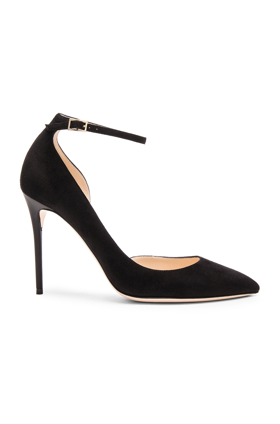 Image 1 of Jimmy Choo Suede Lucy Heels in Black
