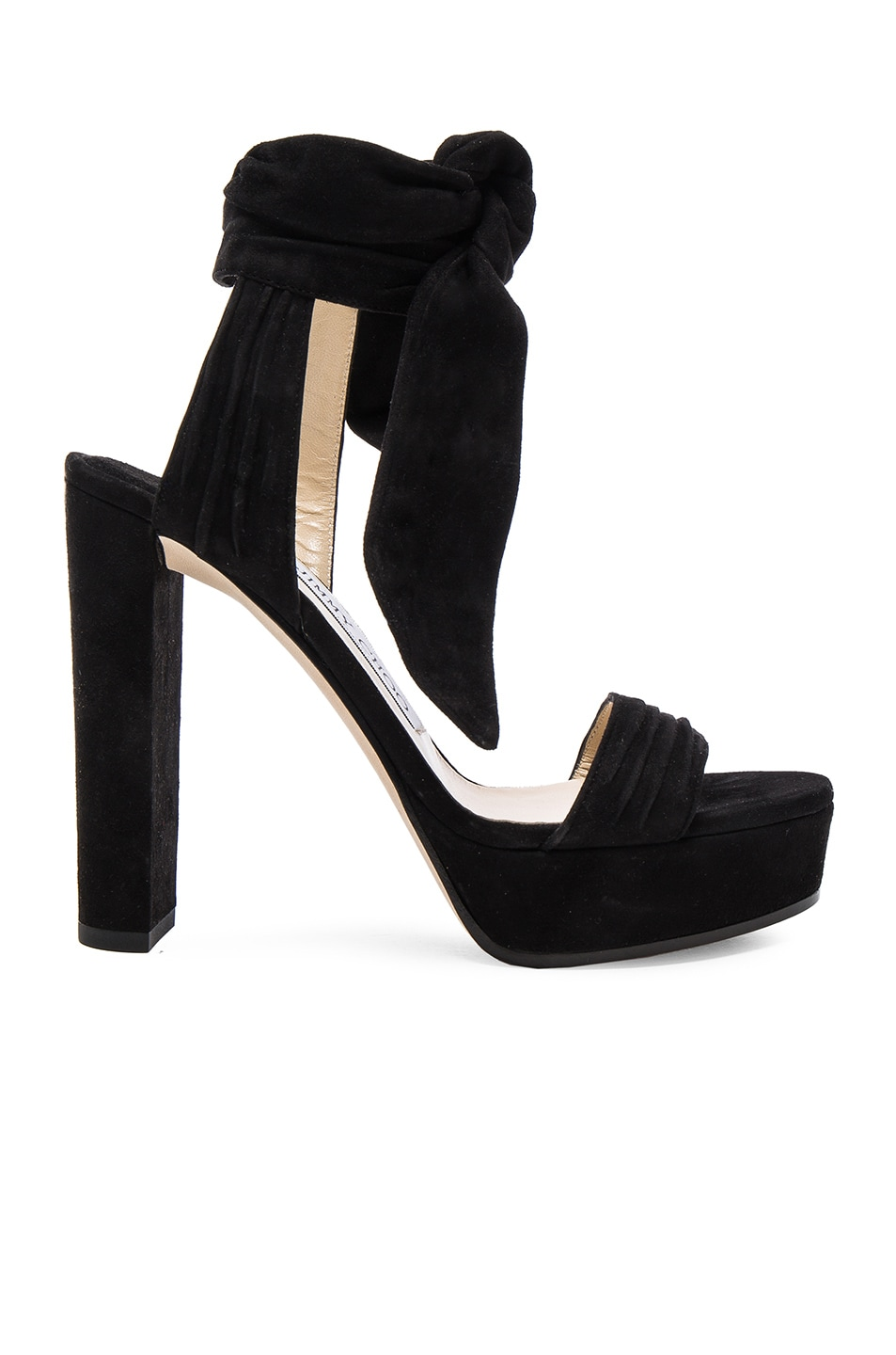 Image 1 of Jimmy Choo Suede Kaytrin Heels in Black
