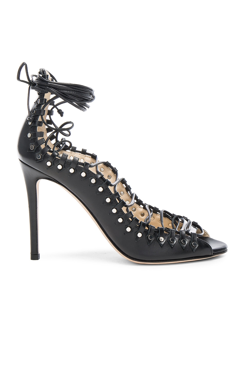 Image 1 of Jimmy Choo Leather Koko Heels in Black & Silver