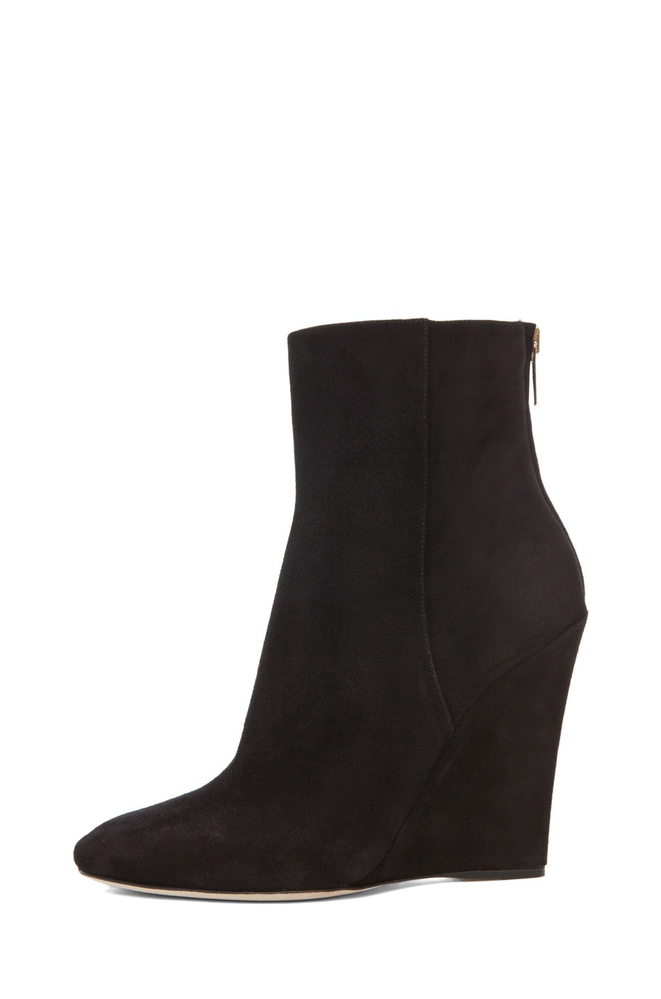 Image 1 of Jimmy Choo Mercury Suede Wedge Booties in Black