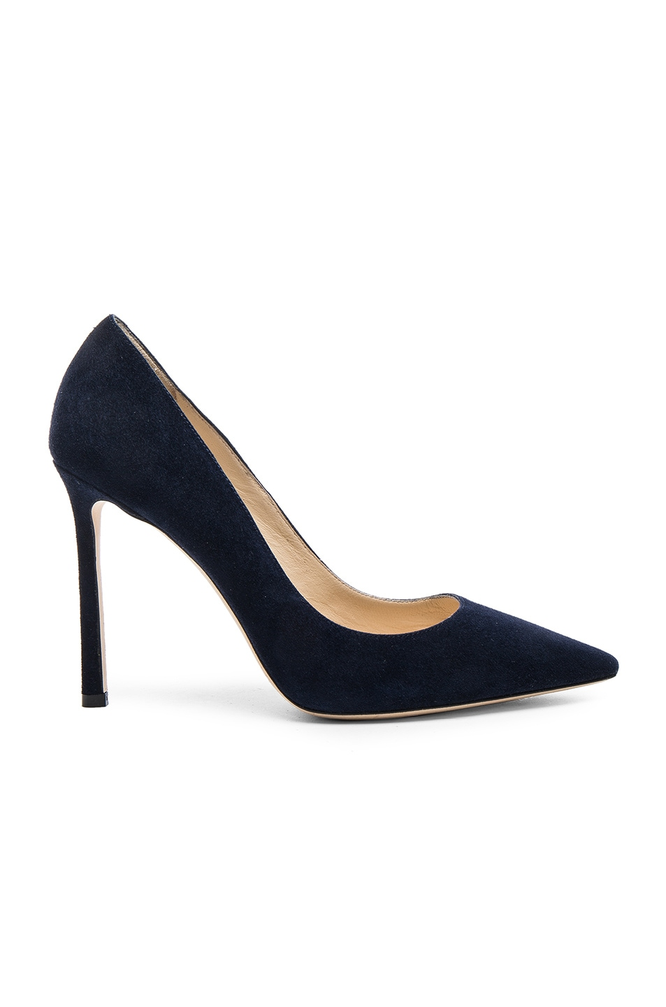 Image 1 of Jimmy Choo Suede Romy Pumps in Navy