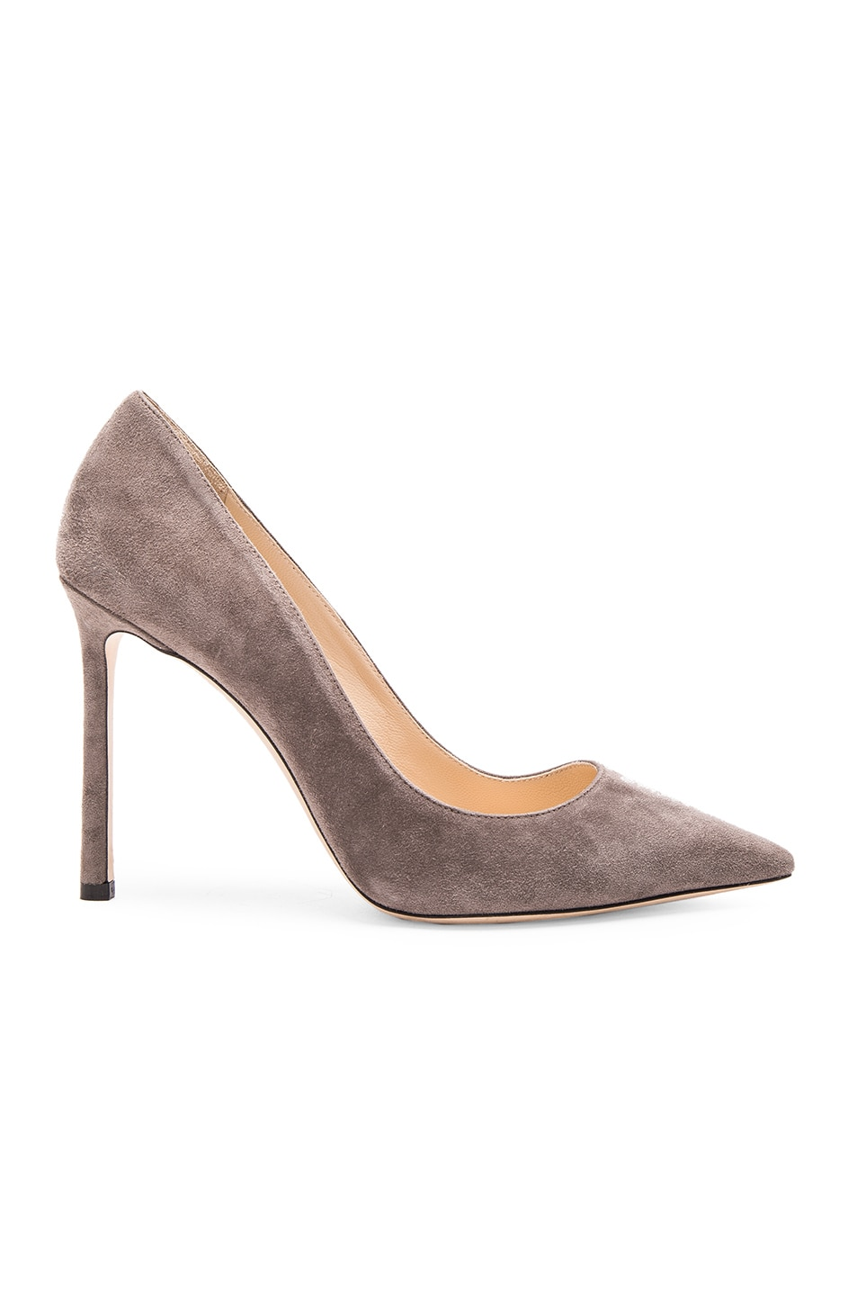 Image 1 of Jimmy Choo Suede Romy Pumps in Taupe Grey