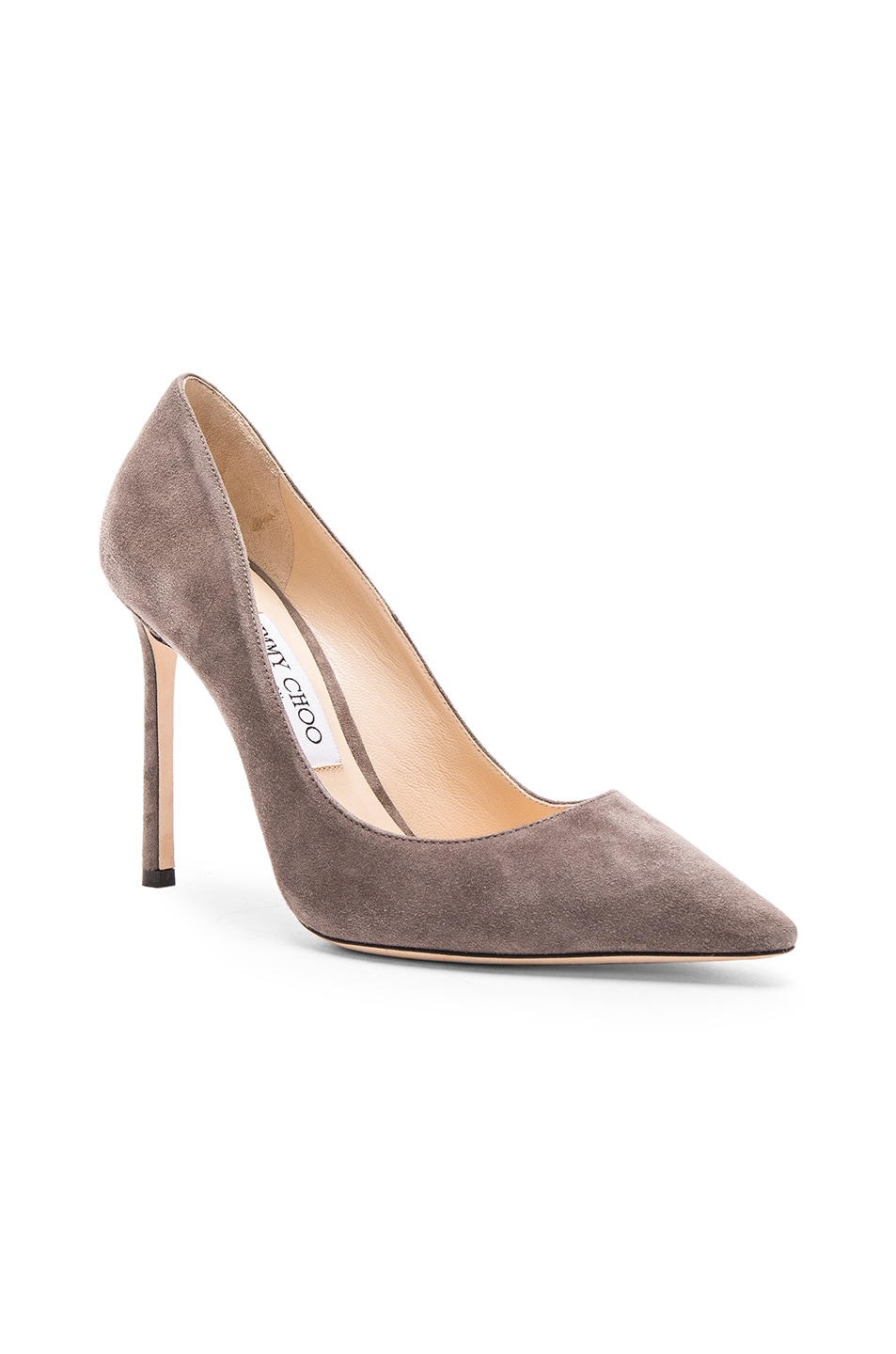 Image 2 of Jimmy Choo Suede Romy Pumps in Taupe Grey