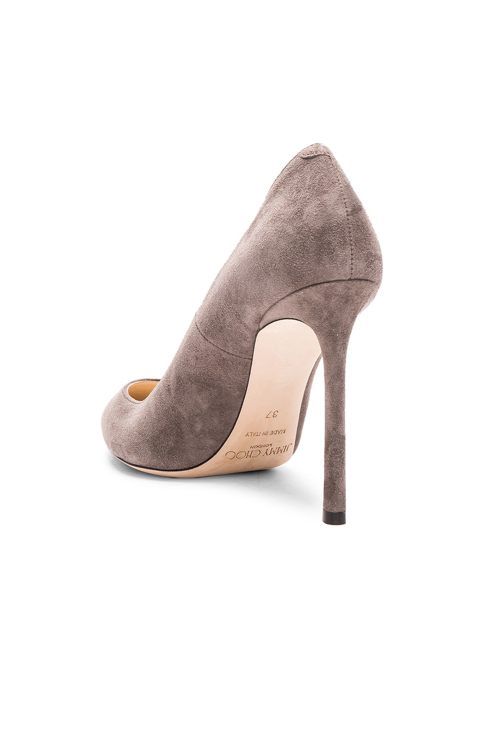 Image 3 of Jimmy Choo Suede Romy Pumps in Taupe Grey