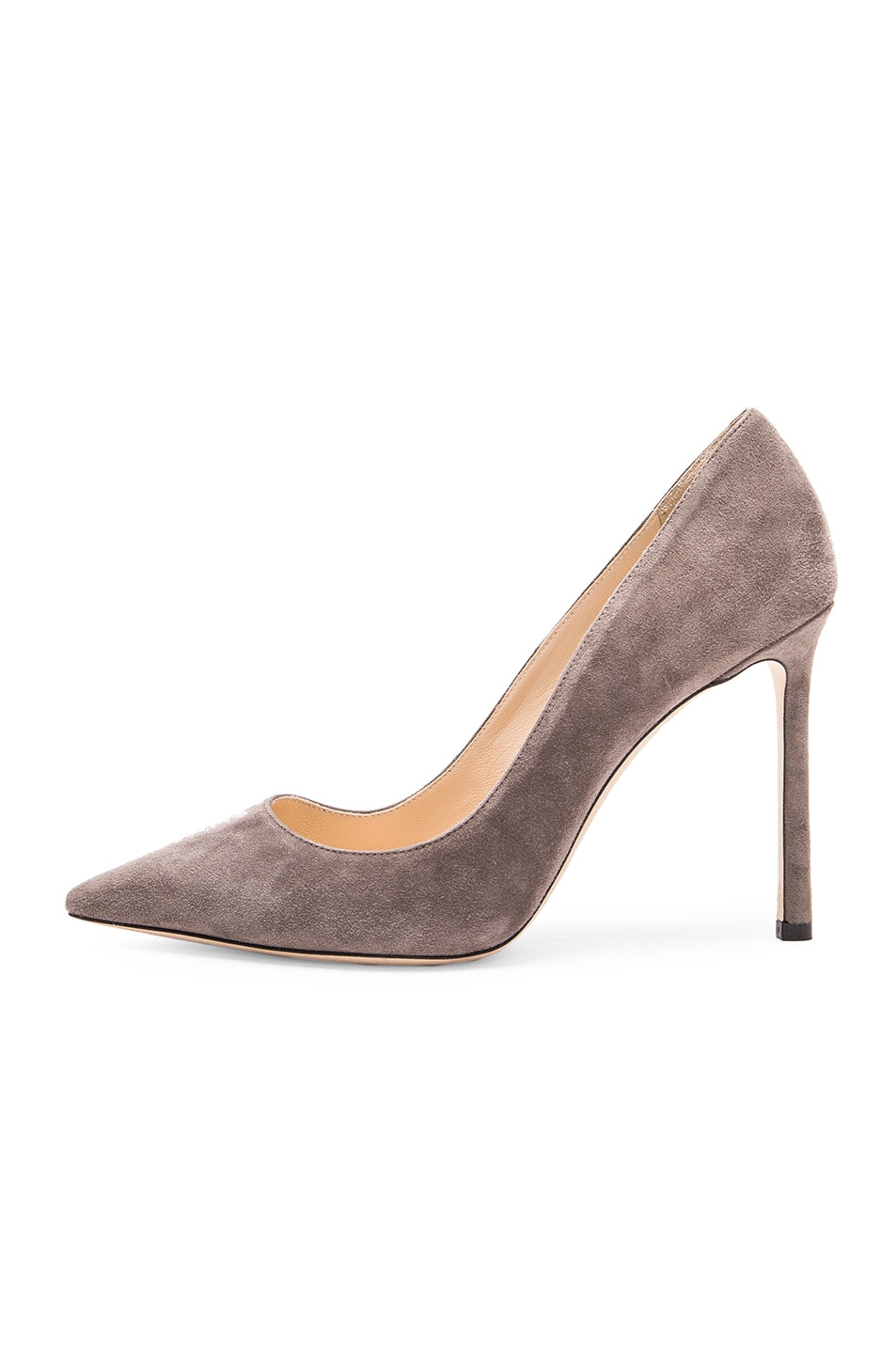 Image 5 of Jimmy Choo Suede Romy Pumps in Taupe Grey